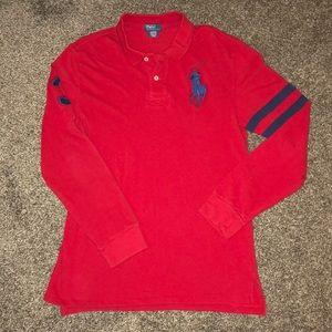 RALPH LAUREN RED BIG PONY POLO SHIRT XL